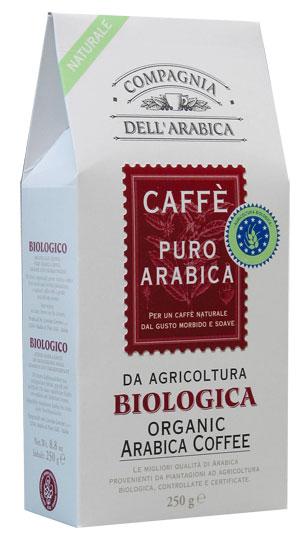 Compagnia Dell Arabica Biologica Caffe Puro Arabica Da Agricultura, молотый, 250 г., пакет.