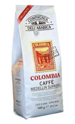 Compagnia Dell Arabica Colombia Medellin Supremo, зерно, 500 г., пакет с клапаном.