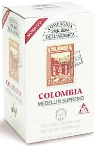 Compagnia Dell Arabica Colombia Medellin Supremo, чалды 18 шт. х 7 г., 125 г., коробка.