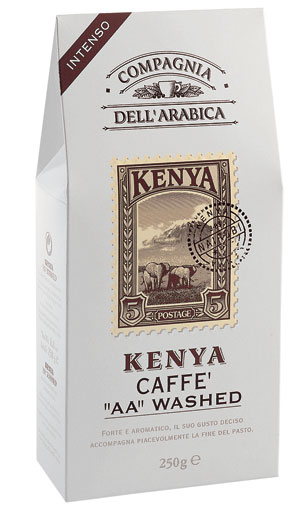 Compagnia Dell Arabica Kenya AA Washed , зерно, 500 г., пакет с клапаном.