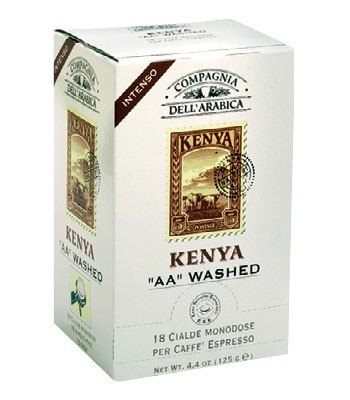 Compagnia Dell Arabica Kenya AA Washed , чалды 18 шт. х 7 г., 125 г., коробка.