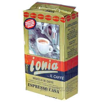 Ionia Espresso Casa, молотый, 250 г., пакет.