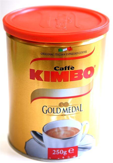 Kimbo Голд Медал, молотый, 250 г., банка.