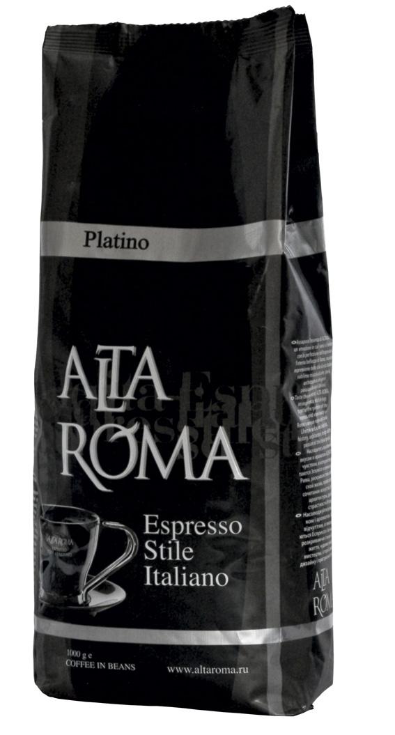 Кофе AltaRoma Platino, 1000 гр. в зернах